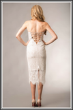 Giselle & Sophia Mila Midi Dress - Ivory Lace