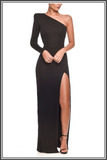 Black Mina Maxi Dresses by Nadine Merabi