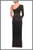 Black Mina Maxi Gown by Nadine Merabi