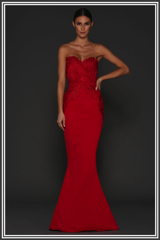 Mira Gown - Red