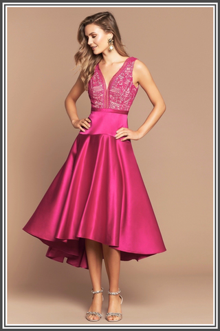 Nikola Dress by Love Honor in Magenta