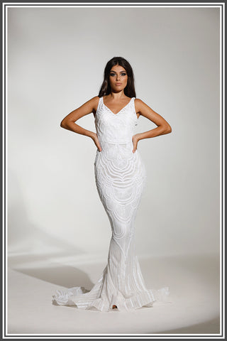 Empire Gown - White
