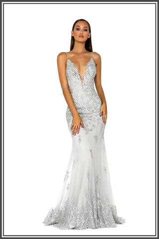 Tania Gown - Silver