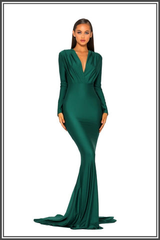 Portia and Scarlett Cora Gown - Emerald
