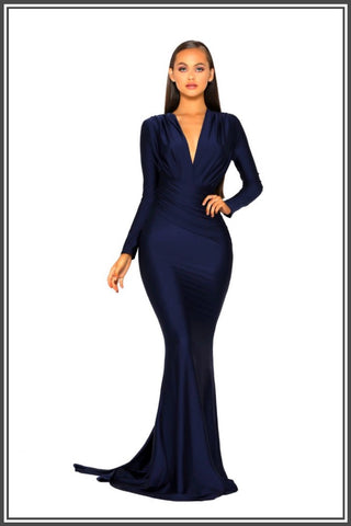 Portia and Scarlett Cora Gown - Navy