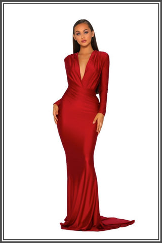 Portia and Scarlett Cora Gown Red