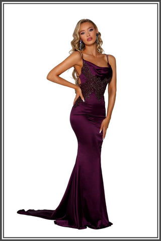 Paloma Gown - Plum