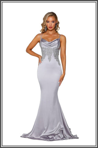 Paloma Gown - Silver