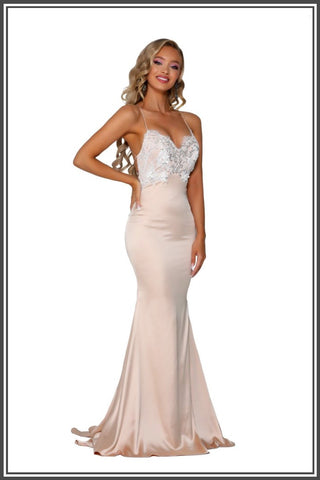 Cara Gown - Champagne Ivory