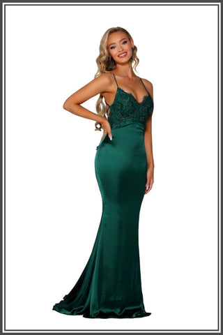 Cara Gown - Emerald