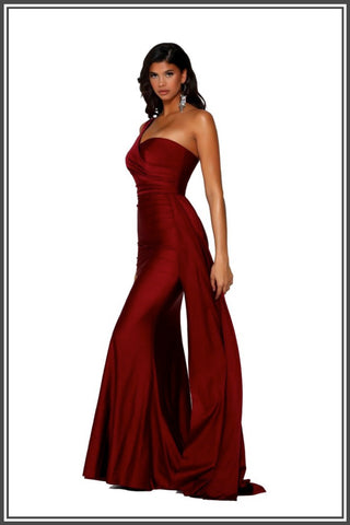 Portia and Scarlett Robin Gown in Deep Red