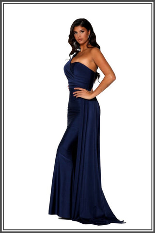 Portia and Scarlett Robin Gown - Navy