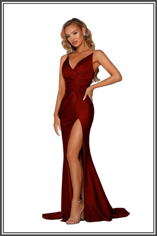 Portia and Scarlett Lorena Gown - Deep Red