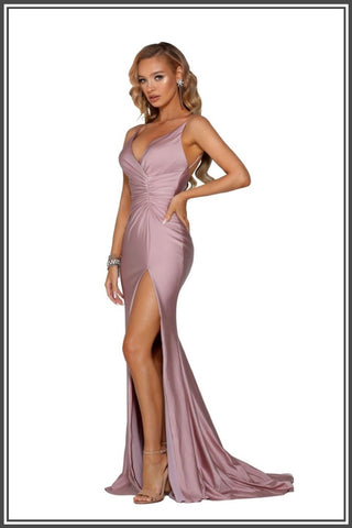 Portia and Scarlett Lorena Gown - Mauve