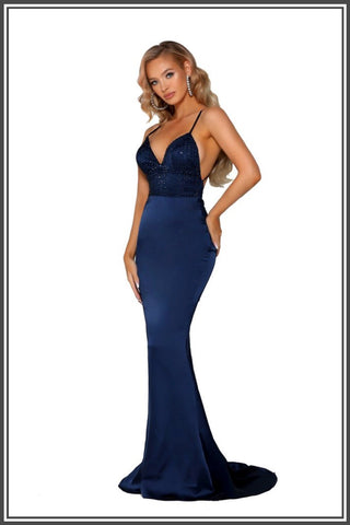 Portia and Scarlett Aria Gown - Navy