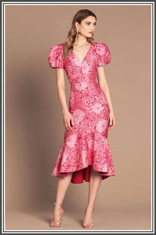 Argento Midi Dress in Pink