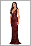 Shanina Plunge Gown - Wine