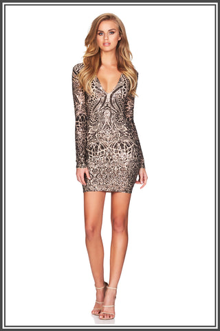 Nookie Shanina Bronze Mini Dress