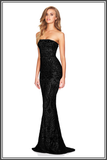 Shanina Strapless Gown - Classic Black