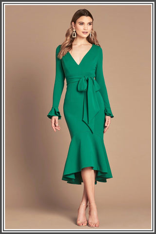 Soho Midi Dress in Emerald