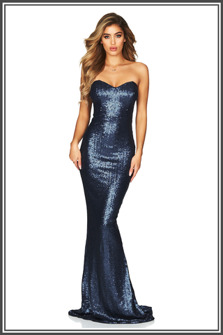 Spellbound Gown - Navy