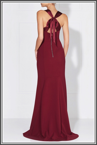 Sandrine Gown by Love Honor in Wine