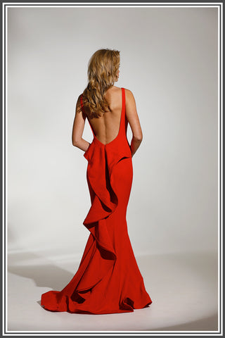 Red Danu Gown by Tinaholy