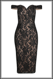 Taylor Dress - Black / Nude