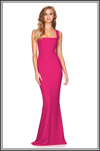 Viva 2 Way Gown - Hot Pink