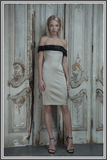 Aloura London Victoria Dress - Gold Embellished Satin Dress