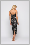 Giselle & Sophia Dolce Midi Dress - Black Lace