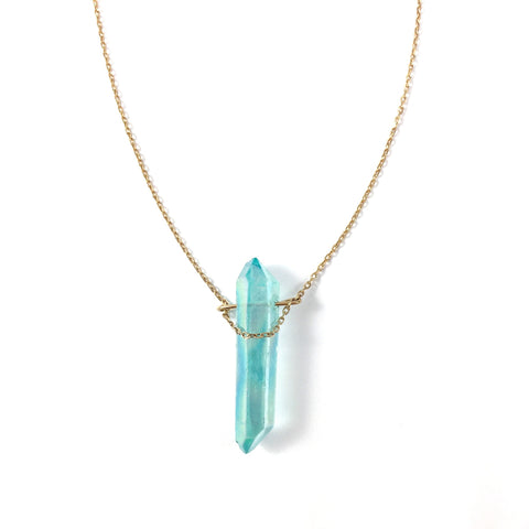 Collier June bleu