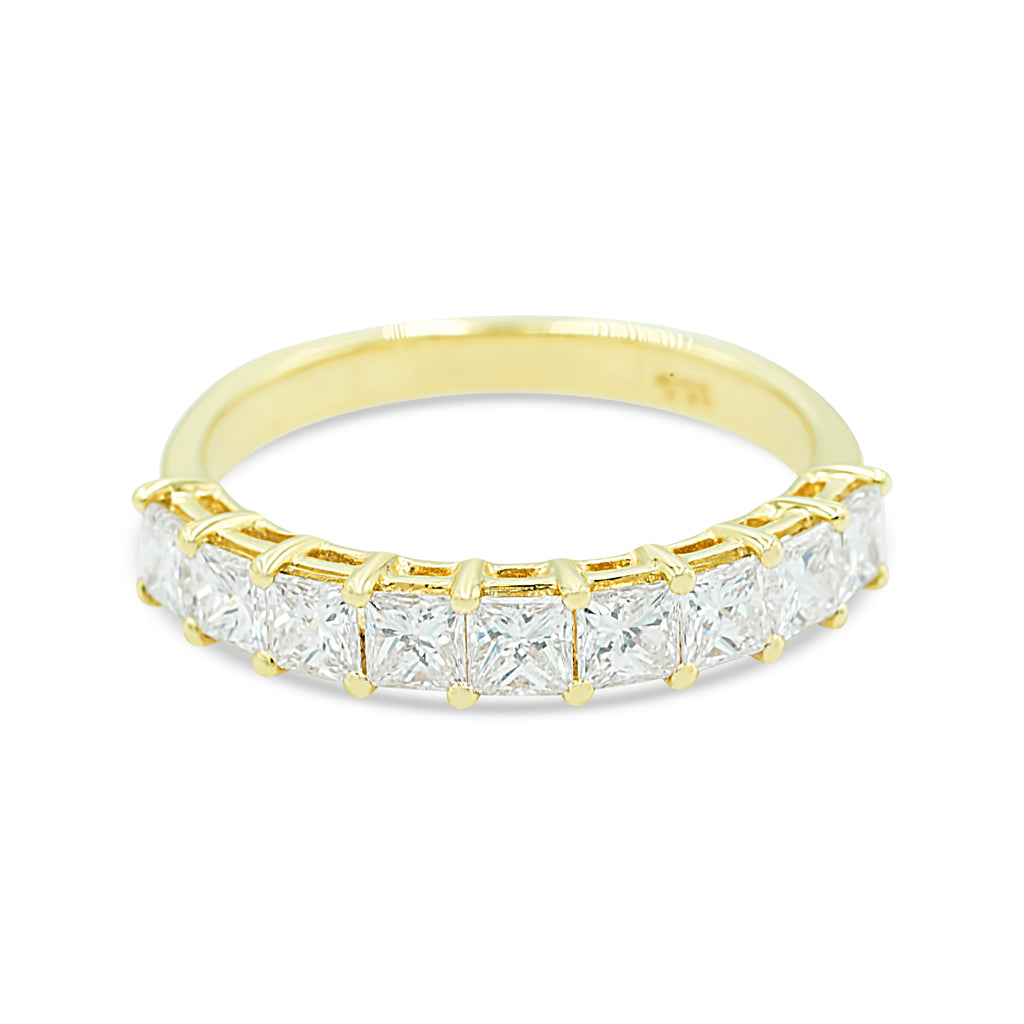 Ella Nine Stone Diamond Ring (Yellow Gold)