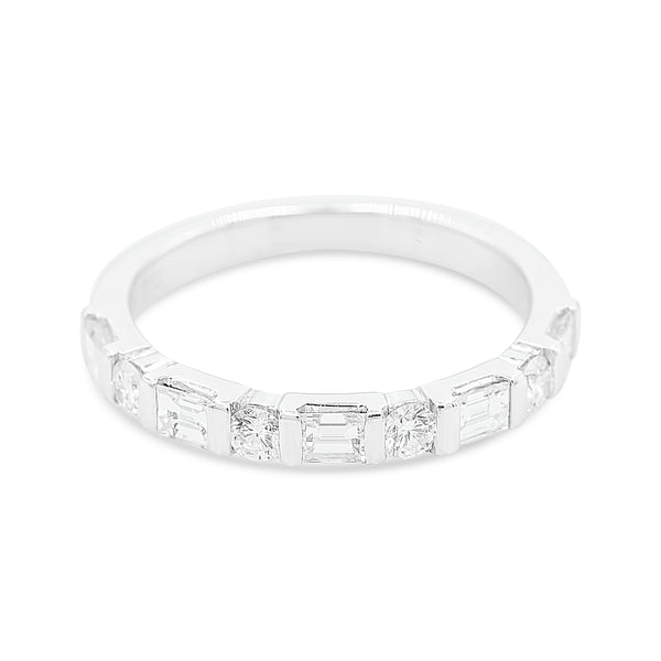 Alicia Nine Stone Mixed Diamond Ring