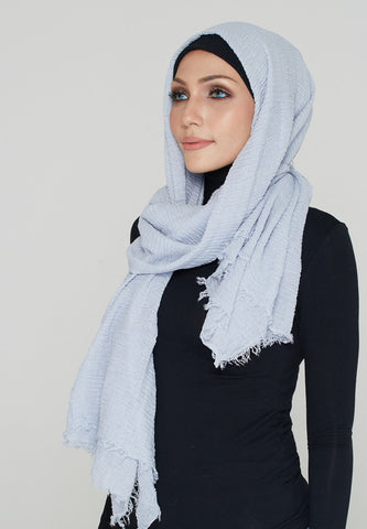 Cotton Scarf, Powder Blue