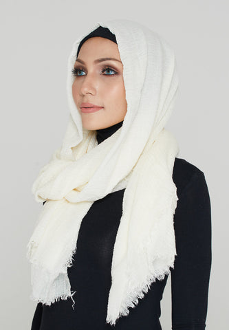 Cotton Scarf, Offwhite