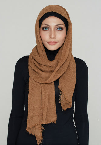 Cotton Scarf, Caramel