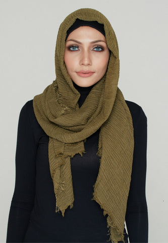 Cotton Scarf, Olive