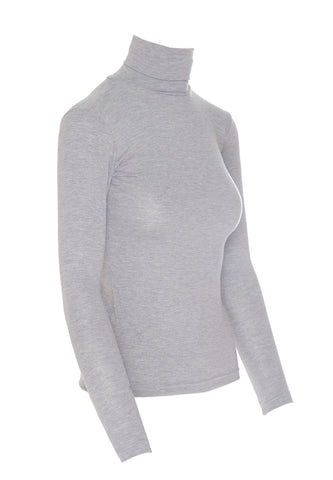 Grey Turtleneck, Long Sleeve