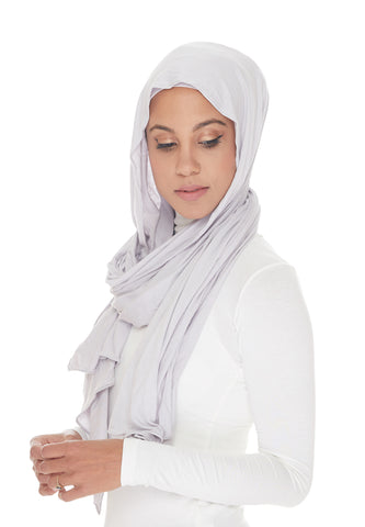 Jersey Hijabs, Light Grey