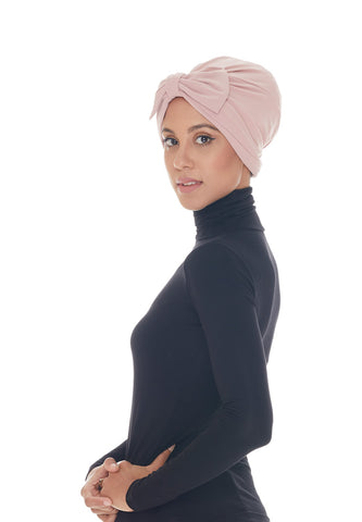 Instant Turban, Bow, Blush