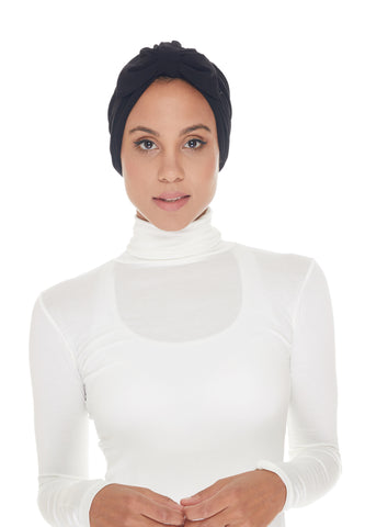 Instant Turban, Bow, Black