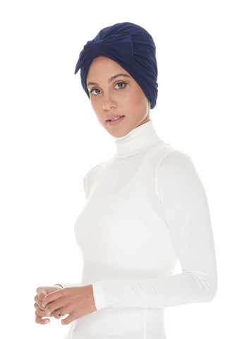 Instant Turban, Bow, Navy