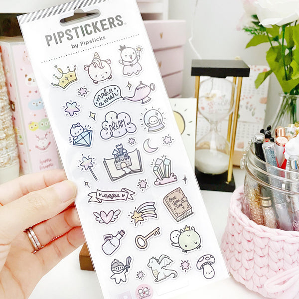 COLLAB - Pipsticks Fairytale Pearlescent Planner Stickers