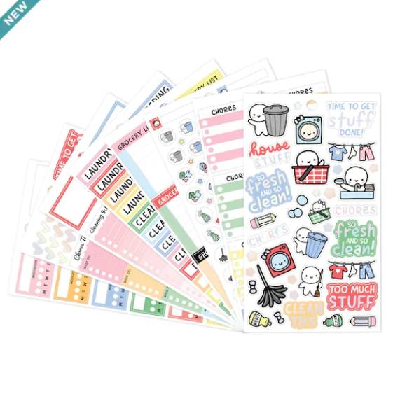 MICHAELS // Chores and House Tasks Holo Foiled Sticker Book
