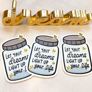 Firefly Jar Vinyl Decal Sticker Die Cuts (Vinyl Die Cut - Jar)