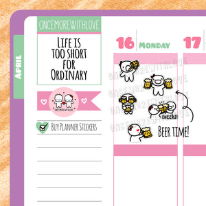 M155 - Cheers! Time for Beer Munchkin Planner Stickers
