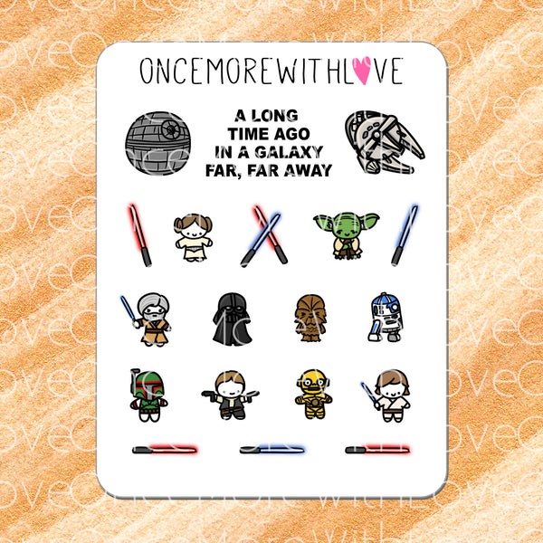 M234 - In A Galaxy Far, Far Away... Star Wars Munchkin Costumes Planner Stickers