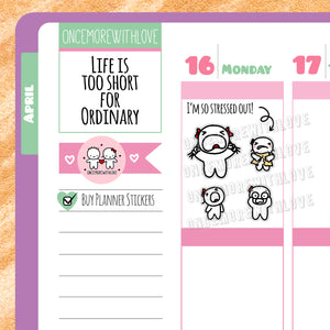 Munchkins - I'm So Stressed Out! Frustration and Anxiety Planner Stickers (M240)