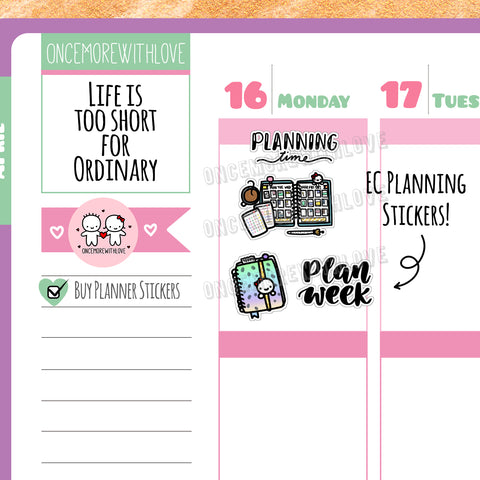 Munchkins - EC Planning Time Planner Stickers (M314)